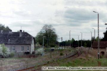 Rudnica w dniu 03.05.1992 roku. Widok w kierunku zapomniane stacji Rudnica, gdzie łączyły się wszystkie kierunki torów.