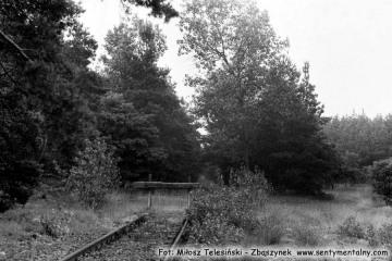 Rudnica 22.09.1987. Końcowy odcineku w kierunku nie czynnego od 1945 roku toru do Sulęcina. Pojawiały się przymiarki odbudowy linii.