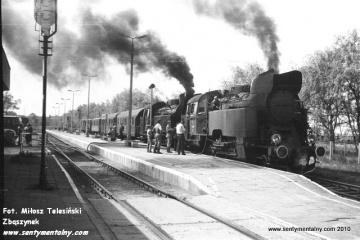 Frombork 27.06.1987. Na początku parowóz Tkt48-122, jako drugi 149.