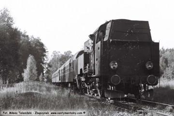 Pociąg specjalny na szlaku. Pszczew - Wierzbno 03.10.1987