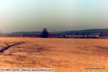 Wierzbno 19.03.1990. SP32 z osobowym do Międzychodu