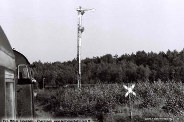 Wierzbno 03.10.1987 od strony Skwierzyny. Wjazd pociągu specjalnego Zbąszynek - Międzyrzecz - Wierzbno - Międzychód - Wierzbno - Skwierzyna - Wierzbno - Międzyrzecz - Zbaszynek.