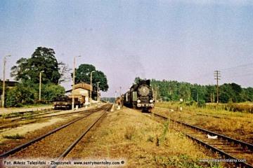 Wierzbno 03.10.1987. Tkt48-28 od pociągu specjalnego Zbąszynek - Międzyrzecz - Wierzbno - Międzychód - Wierzbno - Skwierzyna - Wierzbno - Międzyrzecz - Zbąszynek.