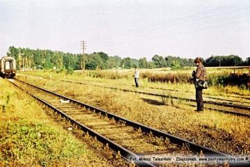 Wierzbno 03.10.1987. Przejazd pociągu specjalnego.