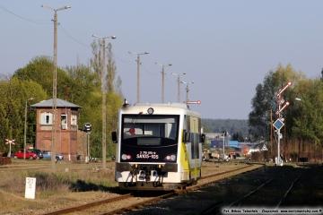 Osobowy do Gorzowa, opuścił perony 23.04.2019.
