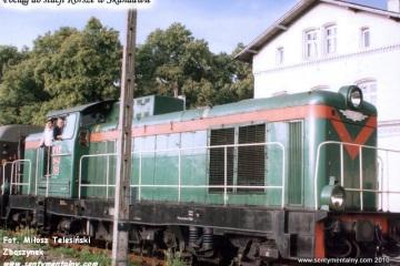 Skandawa 22.06.1993. SP42-163 z osobowym wraca do Korsz.