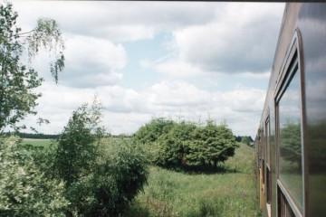 Ruciane - Pisz. Nasyp do Orzysza 21.06.1993.