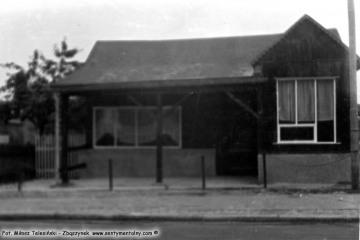Trzciel, idąc od stacji P.K.P. w kierunku miasta 04.08.1986