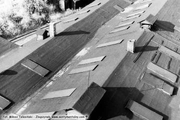 Widok z wieży wodnej na parowozowni w Opalenicy w dniu 03.07.1986. Podczas wchodzenia bardzo mi pomógł robotnik stacyjny Pan Maryś.