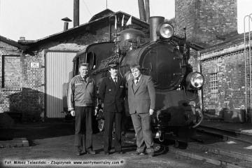 Opalenica we wrześniu 1986. Na zdjęciu od lewej Pan Preiss, Pan Leszek Przybylski - zawiadowca lokomotywowni i ja.