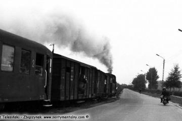 Opalenica w dniu obchodów 100 rocznicy 13.09.1986. Pociąg specjalny wyruszył w stronę Trzcianki Zachodniej.