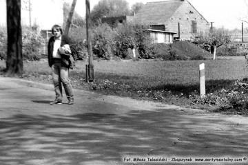 Ja w Rudnikach Dwór,przed wyprawą do Sędzin - Dusznik Wlkp. we wrześniu 1986.