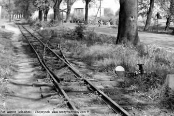 Rudniki Dwór we wrześniu 1986. Rozwidlenie do Sędzin - Niegolewa.