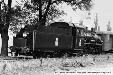 Śliwno, pociąg specjalny na odcinku Duszniki - Trzcianka 13.09.1986.