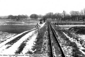 Pociąg z Trzcianki do Nowego Tomyśla, zbliża się do stacji Wąsowo w dniu 14.03.1987.