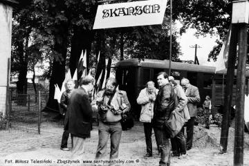 Opalenica w dniu 13.09.1986.  Widoczny po lewej Andrzej Brzozowski, po prawej Andrzej Etmanowicz z Warszawy.