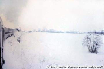 Stróże - Gorlice w lutym 1986