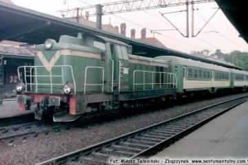 Malbork. Pociąg do Małdyt 12.06.1998