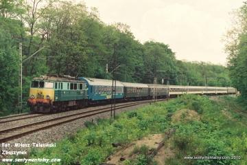 EU07-471 na odcinku WARSZAWA GDAŃSKA - JELONKI 06.06.1991.