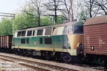 Transport SP45-066 na odcinku Warszawa Wschodnia - Jelonki w maju 1991.