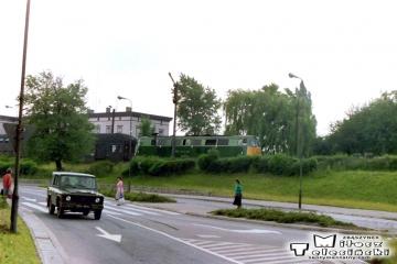 Żary 07.06.1990. Osobowy Leszno - Tuplice. SP45-216.