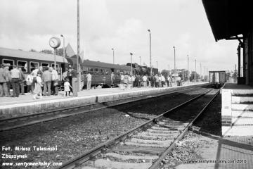 Pociąg specjalny Gniezno - Żnin na stacji Damasławek w dniu 09.09.1988.