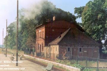 Mijamy stację Zdziechowa w dniu 09.09.1988.