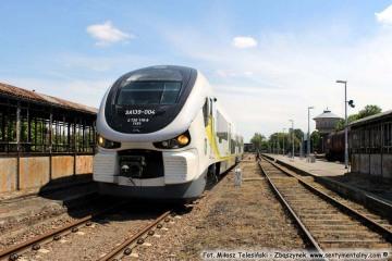 Pociąg z Zielonej Góry do Gorzowa Wlkp., odjeżdżający ze Zbąszynka o 12.58. 22.05.2017