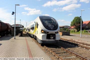 Pociąg z Gorzowa Wlkp. Do Zielonej Góry, odjeżdżający o godzinie 15.29. 22.05.2017