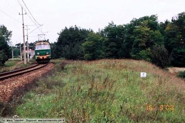 Zbąszynek - Babimost (Podmokla) w dniu 16.09.2008. ET22-224 ze Zbąszynka w stronę Babimostu.