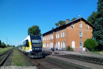 Santok w dniu 23.07.2013. Wjazd pociągu od strony Krzyża do Kostrzyna.