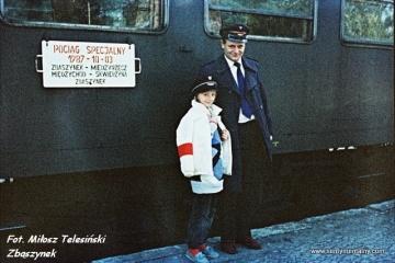 Kier. pociągu z córką