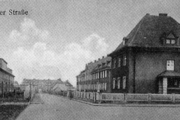 Ulica Gdańska od strony ul. Poznańskiej, do 1930 roku.