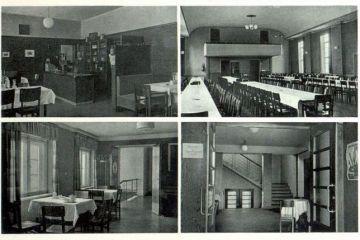 Wnętrze hotelu (dzisiaj dom kultury) około 1940 roku.