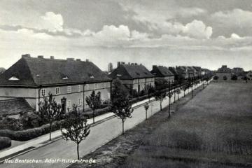 Widok dzisiejszej ulicy Wojska Polskiego w stronę dworca. Widoczny odcinek pomiędzy ulicami Warszawską a Wąską.