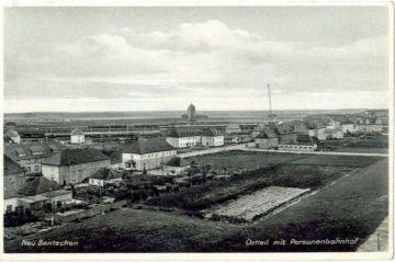 Widok z wieży kościoła w stronę dzisiejszej ulicy Wojska Polskiego, dalej dworca.