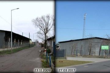 Ulica Czarna Droga w Zbąszynku 23.11.2009 i 27.03.2017.