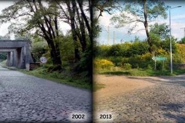 Wiadukty do Chlastawy w Zbąszynku 2002  i  2013 roku.