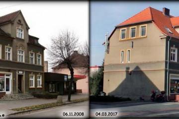 Ulica Wojska Polskiego w Zbąszynku 06.11.2008 i 04.03.2017.