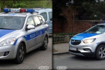 Radiowozy w Zbąszynku 2015  i  2017 roku.
