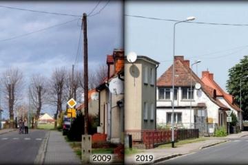Ulica Zbąszyńska w latach 2009  i 2019