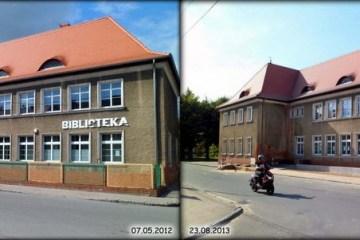 Ulica Kasprowicza w Zbąszynku 07.05.2012 i 23.08.2013.