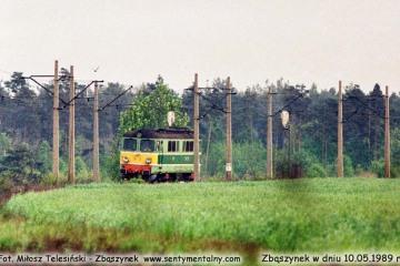 ST43-165 z Leszna, wjeżdża do Zbąszynka w dniu 10.05.1989.