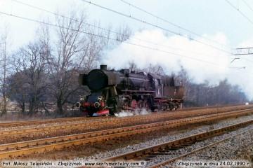 Ty z Międzyrzecza, wyjeżdża wjeżdża do Zbąszynka w dniu 24.02.1990.