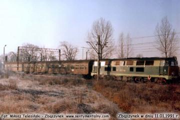 SP45-148 do Leszna, wyjeżdża ze Zbąszynka w dniu 11.01.1992.