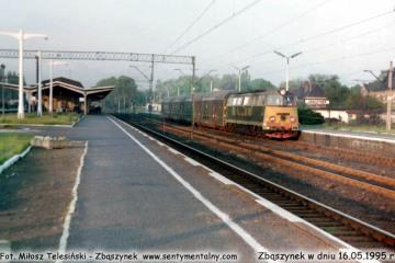 Perony w Zbąszynku, SP45-047 do Międzyrzecza w dniu 16.05.1995.