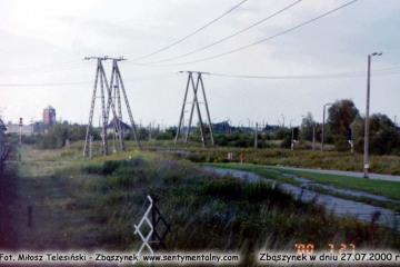 Wjazd z Czerwieńska do Zbąszynka w dniu 27.07.2000.