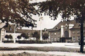 Plac Dworcowy w 1943 roku.