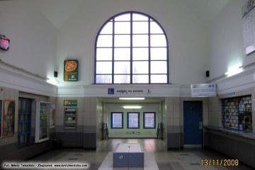 Wnętrze holu dworcowego. 13.11.2008