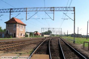 Widok od przejazdu w stronę Zk-1. 05.07.2011